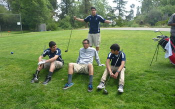 Boys Golf TEam in Action